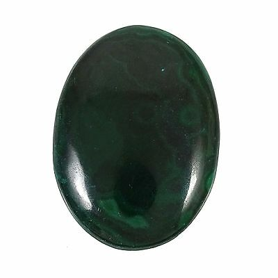 43.45 CT Natural Malachite Stone Loose Oval Cabochon Gemstone Untreated ST8451A