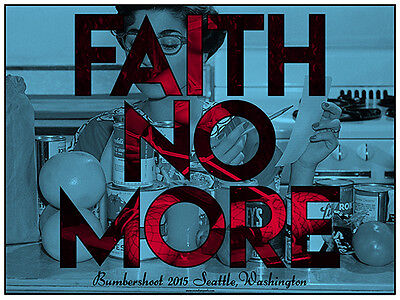 FAITH NO MORE poster Bumbershoot 2015 by IOM