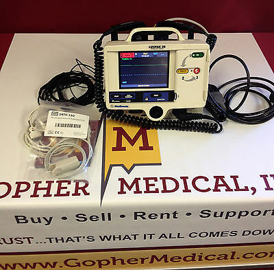 Physio Control Lifepak 20 Sp02 & Pacing  Patient Monitor W/ Warranty