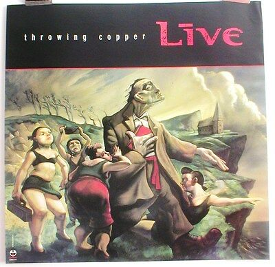 LIVE THROWING COPPER POSTER, 1994 ORIGINAL PROMO, 27 x 27, VERY GOOD condition!