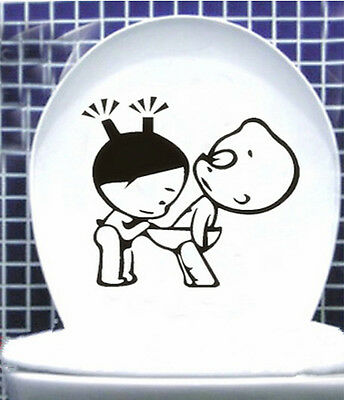 Toilet Decor Bathroom Ensuit Vinyl Wall Decal Sign Funny Lovely Sticker Creative