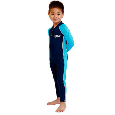 Child Stinger Suit Unisex Swimwear One Piece Swim Suit UV Protection Sz 2-4-6-8