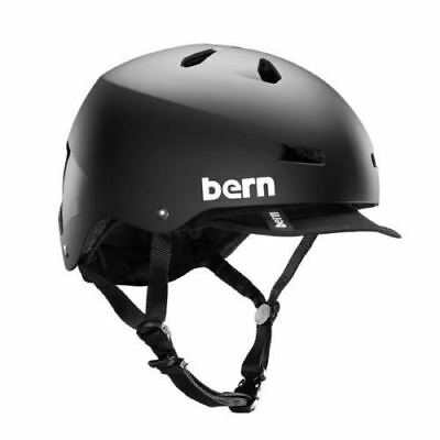 Bern Macon Matte Black Bike Helmet With Visor - Bern Macon Bike or Skate Helmet