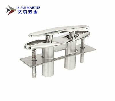5'' 316 STAINLESS STEEL PULL-UP CLEAT/ POP-UP FLUSH MOUNT LIFT- Boat/Marine