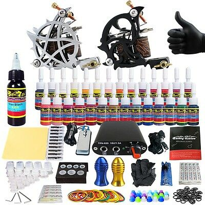 Professional complete kit de tatuaje agujas  Power Supply tintas consejos