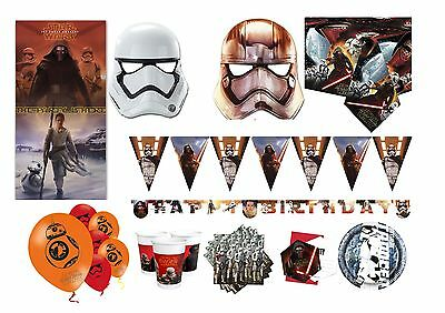 Star Wars Episode VII 7 The Force Awakens Tableware Birthday Party Decorations