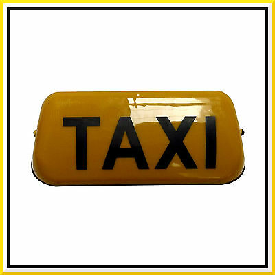 "14"" Yellow Taxi Sign Roof Illuminated Indicator Aerodynamic Magnetic Cab 12V ABS"