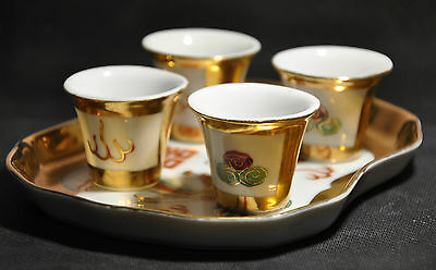 Japanese 5 piece Gilded TEA SET HAND PAINTED (0183)
