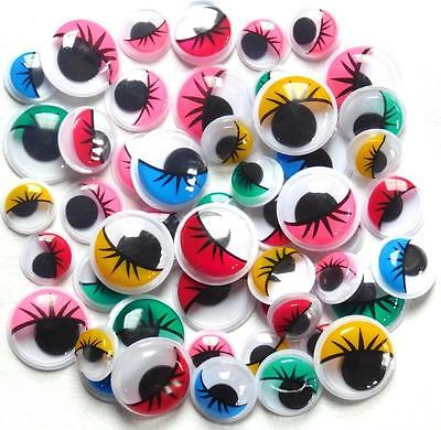 Wiggle Googly Wiggly Google Eyes with Eyelashes 50 assorted sizes and colours