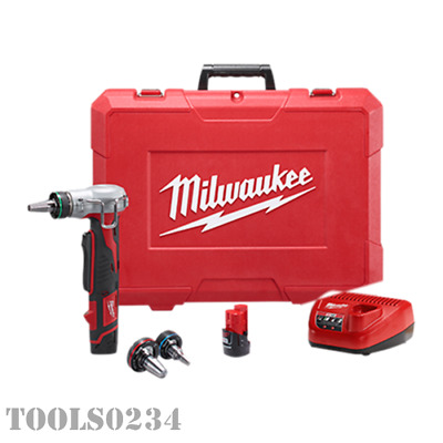 New Milwaukee 2432-22XC Cordless M12 ProPEX Expansion Tool Kit Battery & Charger