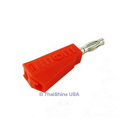 4 x 4mm Stackable Type Banana Plug Red - USA Seller - Free Shipping
