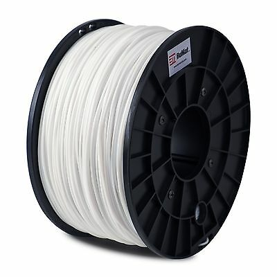 BuMat ABS WHITE 3D Printer Filament 2.2lbs (1kg) 1.75mm Supply Material MakerBot
