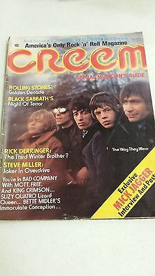 Rolling Stones Creem Magazine From July 1974 (Jagger Poster Centerfold)