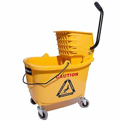 36qt Side Press Mop Bucket with Wringer - Yellow