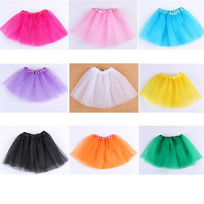 Tutu skirts for Baby girls from 2-7T tulle fluffy summer Ballet dance wear