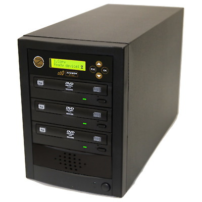 1 to 2 DVD CD Multiple Discs Copy Burner Writer Recorder Duplicator Tower System
