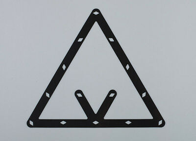 6Pcs 8, 9 and 10 Ball Magic Rack Holder Black Billiard Pool Table Accessory