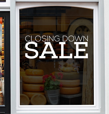 CLOSING DOWN SALE Shop Window Sticker Retail Display Vinyl Decal