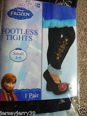 DISNEY PRINCESS ANNA Frozen  HALLOWEEN COSTUME Footless Tights  4-6   NWT