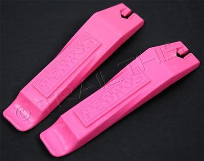 Pair of (2) Pedro's Bicycle Tire / Tube Change Levers Tool Set - Pink