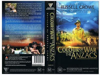 Colour Of War: The Anzacs, {2004}  *Rare Vhs Tape*