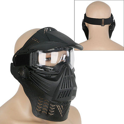 Airsoft Paintball Full Face Protection Mask with Goggle Outdoor Tactical