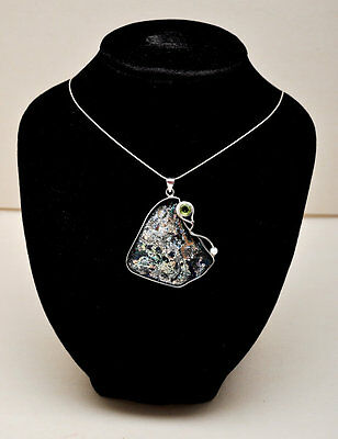 Roman Glass Pendant Necklace Authentic & Luxurious Sterling Silver Certificate