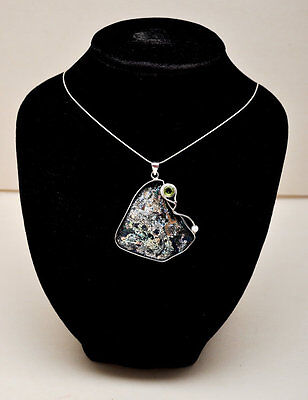 Roman Glass Pendant Necklace Authentic&Luxurious Sterling Silver Certificate #4