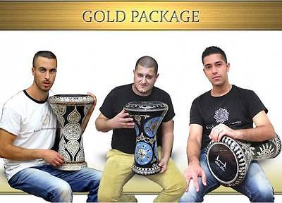 Gold Package - 4 Darbuka / Doumbek Lessons Files For Downloading