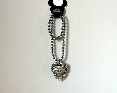 Authentic Disney DLR Large Heart Pirates of the Caribbean Necklace