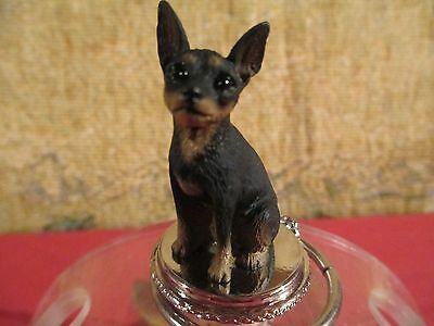 Miniature Pinscher  Tan And Black ~   Wine Stopper