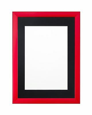 Rainbow Range Picture Frame Photo Frame   Poster Frame  Red Pink With Mount