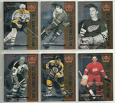 1999-00 UD Century Legends All Century Team 12-card Set  Wayne Gretzky Bobby Orr
