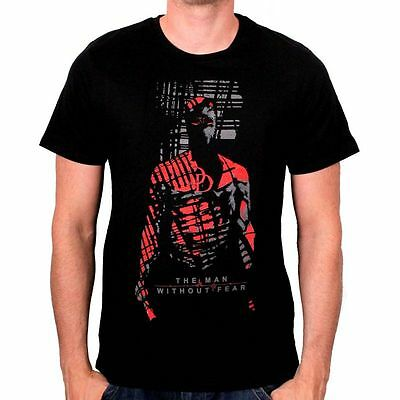 Official Marvel  - Daredevil 'the Man Without Fear' Shadow Black T-Shirt (New)