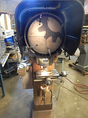 Nikon V-14 Optical Comparator Profile Projector loaded with accessories