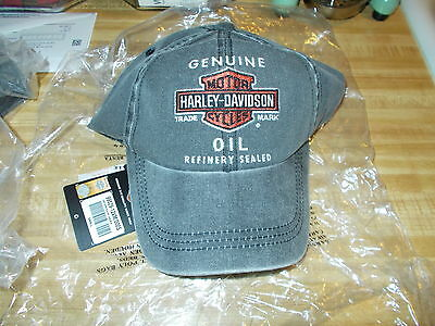 Harley-Davidson Genuine Motor Oil Baseball HAT/CAP SIZE S/M NEW OLD STOCK!
