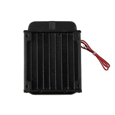 Aluminum 80mm Water Cooling cooled Row Heat Exchanger Radiator+Fan for CPU PC @@