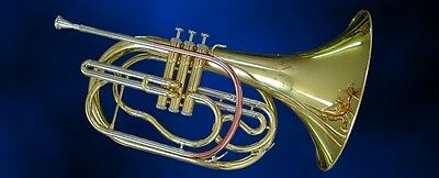 Marching French Horn, Waldhorn mit Goldmessing Mundrohr