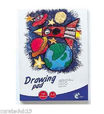 Drawing Pad A4 Size 150 Sheets Paint Your Favorite Character Chiltern Wove Ss309