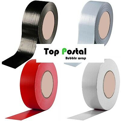 Gaffer Duct Tape size 48mm x 50m Strong Waterproof Secure cloth gaffa red black