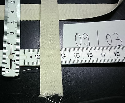 off - white  flat cotton herringbone ribbon for piping       UV-negative  #09/03