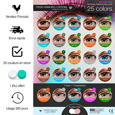 Lentilles de couleur - 1 an - contact lenses coloured - lens colored