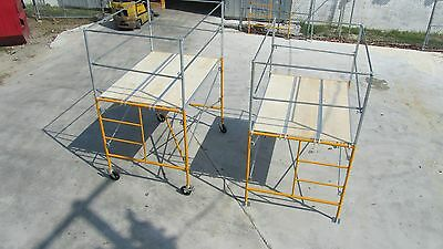 5' Rolling Tower w Basic Safety Rails - 5' Scaffold Tower