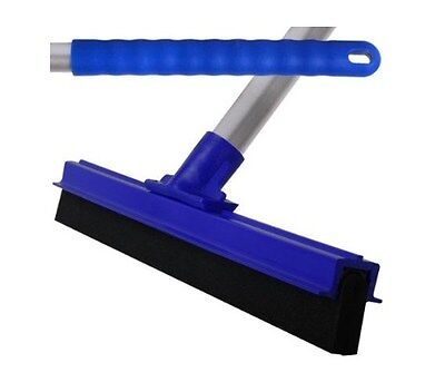 Blue Professional Hard Floor Cleaning Squeegee Strong Alloy Handle Tiles Marble