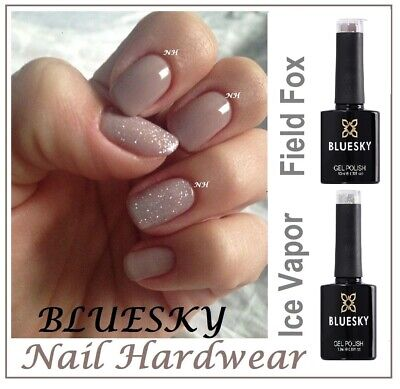 Bluesky Gel FIELD FOX 80594 NUDE ICE VAPOR SILVER GLITTER 80573 Summer best sell