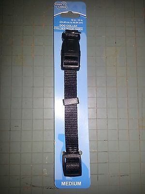 Paws-N-Claws Adjustable Nylon Dog Collar Clip Close-10 to 16 in. - NEW