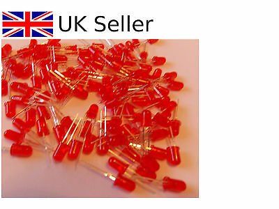 50 PCS LED 5MM RED f5 LIGHT SUPER BRIGHT NEW UK SELLER