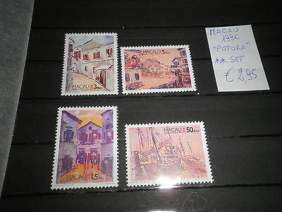 "Francobolli Macau 1996 ""painting"" Mnh** Set (Cat.7)"