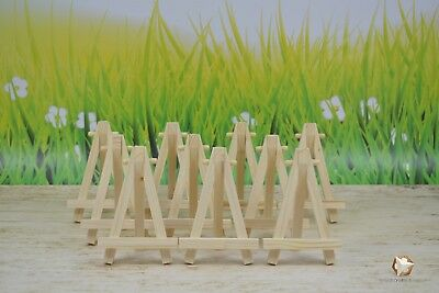 10 X  Wooden Easel 5'' Plus 1 Free Mahogany Color For Wedding Or Table Number