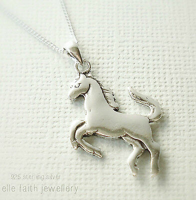 925 solid sterling silver horse pendant necklace with chain 1499 925 solid sterling silver horse pendant necklace with chain aloadofball Gallery